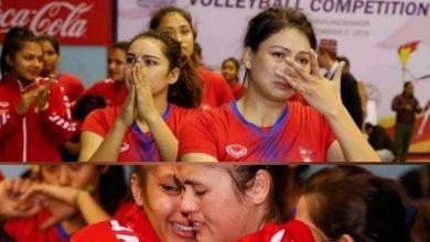Photo of नेपाली महिला फुटबल खेलाडी पराजित हुँदा थामिएन मन्त्रीको आँशु