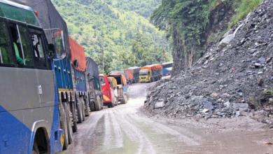 Photo of नारायणगढ–मुग्लिन सडक अवरुद्ध