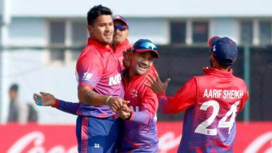 Photo of एसीसी इस्टर्न रिजन  टी- ट्वान्टी कप क्रिकेट : थाइल्याण्डलाई ९ विकेटले हरायो नेपालले