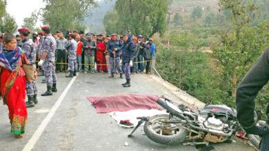 Photo of मोटरसाइकल दुर्घटना हुँदा १८ वर्षीय रोहितको मृत्यु