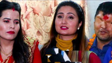 Photo of रमेश प्रसाईकी पत्नि नन्दाको आश्रममा पुगेर सहयोग गरिन् गायिका अन्जु पन्तले