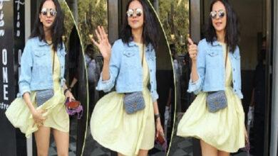 Photo of जब अभिनेत्री रकुल प्रीत सिंहको स्कर्ट हावाले उडाइदियो, पत्रकारहरुले फोटो खिचिरहे