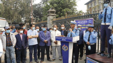 Photo of कोरोनाविरूद्ध ट्राफिक प्रहरीको सावधानी अभियान शुरू