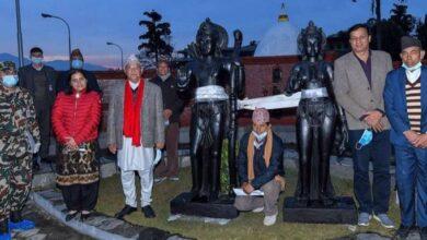 Photo of बालुवाटारमा राखिएका राम–सीताको मूर्तिसहितको रथयात्रा अयोध्यातर्फ