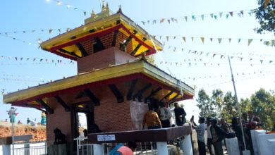 Photo of सन्तानेश्वर महादेव मन्दिर परिसरमा बेलका बिरुवा रोपण